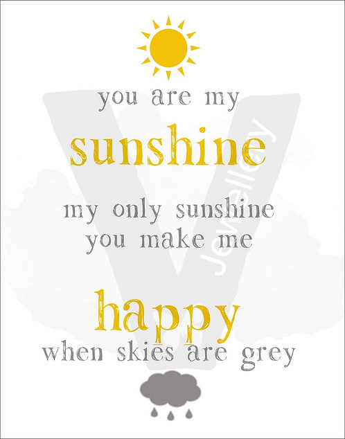 My Only Sunshine Quote Print Download