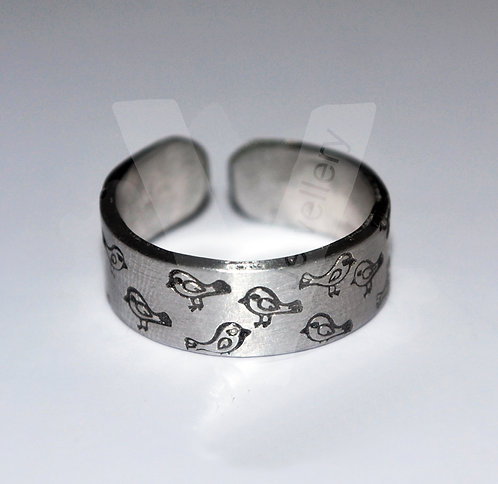 Design Hand Stamped Band Ring *Higher Quality