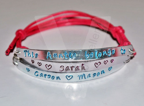 Aunty belongs to... Multi-Plate Bracelet *2 - 6 Plates Available