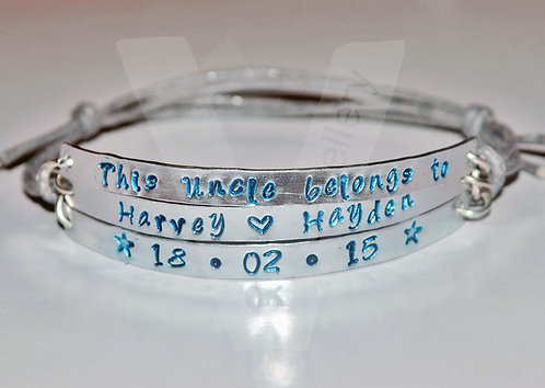 Uncle belongs to... Multi-Plate Bracelet *2 - 6 Plates Available