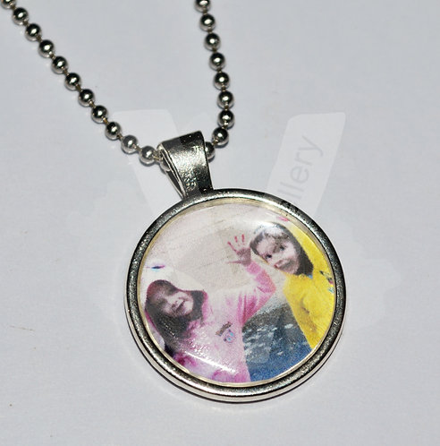 """Personal Large Photo Charm Pendant 20"""" *Stainless Steel Chain"""