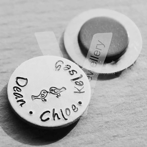 Personalised Hand Stamped Magnet