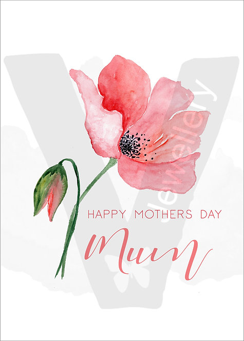 Mothers Day Poppy Print Download
