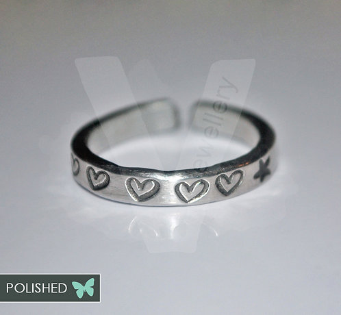Design Hand Stamped Stacking Ring *Higher Quality