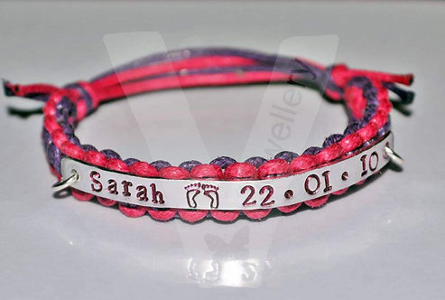 Personalised Knot Band Single Plate Bracelet