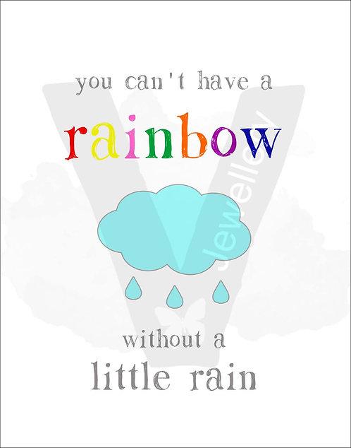 Rainbow Quote Print Download