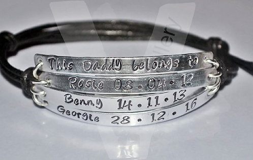 Daddy belongs to... Multi-Plate Bracelet *2 - 6 Plates Available