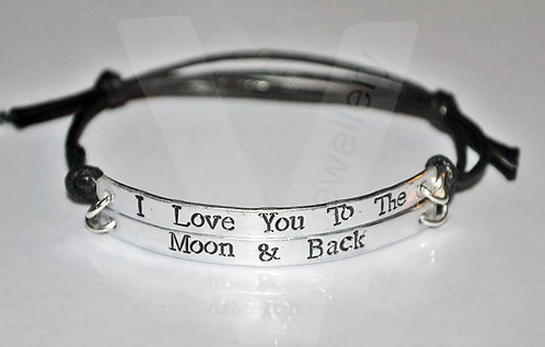 """""""I Love you to the Moon & Back"""" Double Multi-Plate Bracelet"""