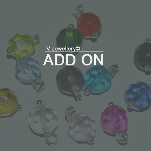 ADD ON: Birthstone Glass Bead Charm