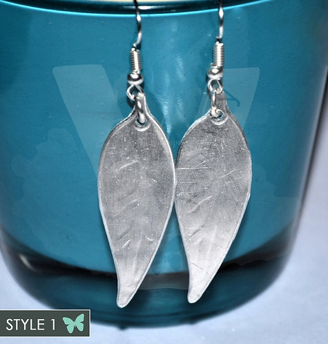 Embossed Leaf Dangle Earrings