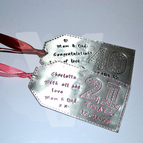 """Personalised Stitched Effect """"Special Day"""" Large Gift Tag"""