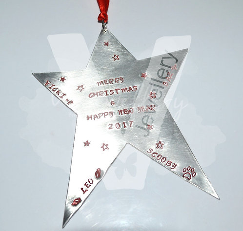 Personalised XL Star Keepsake Plaque