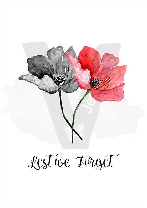 Lest we forget Poppy Print Download