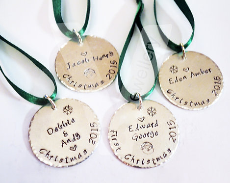 Personalised Christmas Tree Disc Decoration