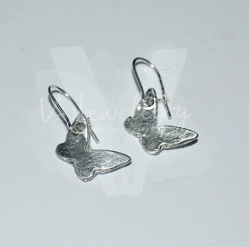 Dainty Butterfly Charm Dangle Earrings