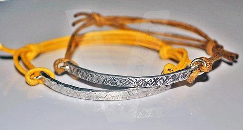 Textured Hammered Stacking Adjustable Bracelet *Higher Quality