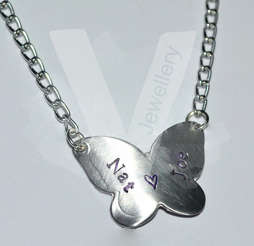"""Personalised Butterfly Pendant 18 - 20"""" *2 Styles Available"""