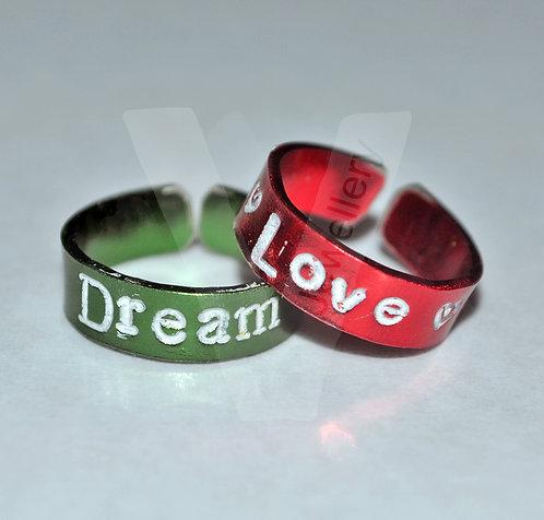 Personalised Colored Toe-Midi Rings *Set of 2*