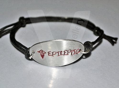 Medical Alert Oval Hand Stamped Bracelet