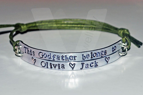 Godfather belongs to... Multi-Plate Bracelet *2 - 6 Plates Available
