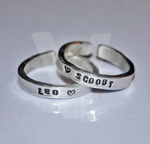 Personalised Hand Stamped Stacking Ring *Higher Quality