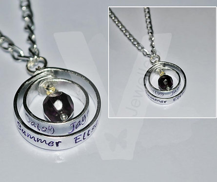 "Personalised Spinning Pendant 18"" - 22"""