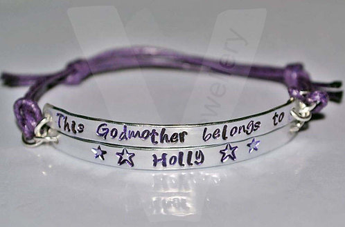 Godmother belongs to... Multi-Plate Bracelet *2 - 6 Plates Available