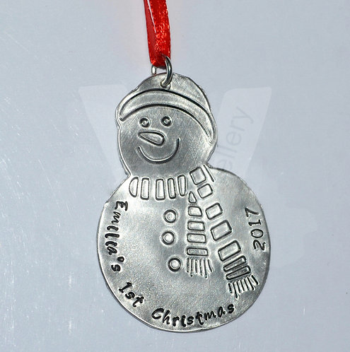 Personalised Large Snowman Christmas Decoration