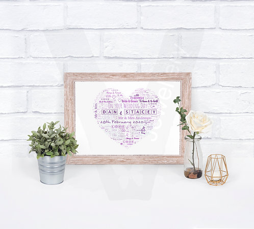 Personalised A4 Shape Text-Art Print