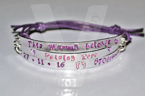 Mummy belongs to... Multi-Plate Bracelet *2 - 6 Plates Available