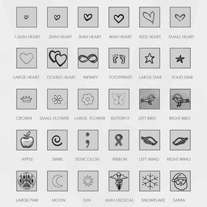 STAMPED SHAPES CHART