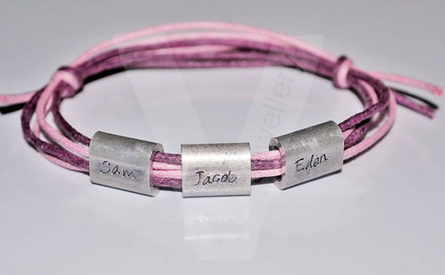 Personalised Bead Charm Wrap Bracelet
