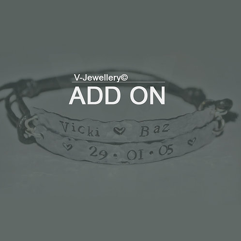 ADD ON: Textured Finish *For your Multi-Plate Bracelets Only!