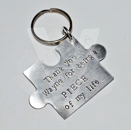 """""""Thank you for being a piece of my life"""" Large Jigsaw Puzzle Keyring"""