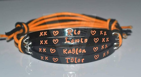 Personalised Colored Multi-Plate Hand Stamped Bracelet *2 - 6 Plates Available