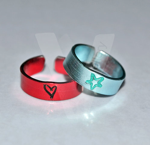 Design Colored Toe/Midi Rings *Set of 2*