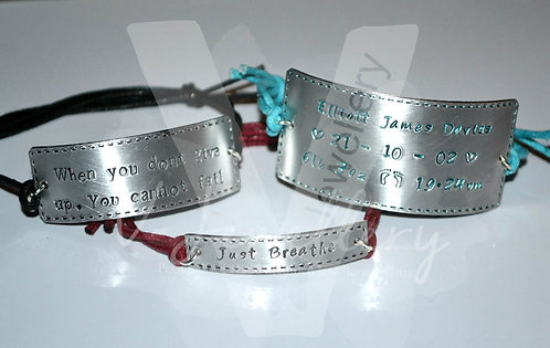 Personalised Stitched Effect Cuff Bracelet *3 Styles Available