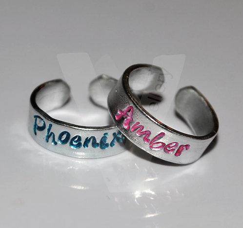 Personalised Toe-Midi Rings *Set of 2*