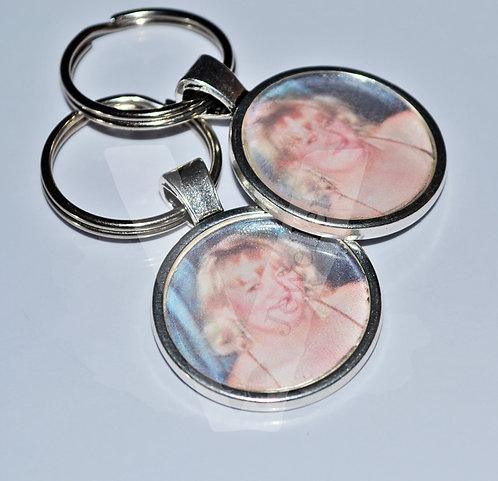 Personal Large Photo Charm Bag Charm / Keyring