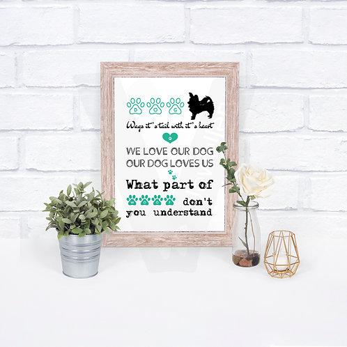 Dog Breed Quote A4 Print