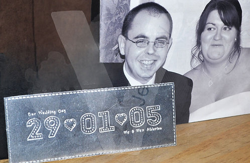 Personalised Stitched Effect Xl Plaque *28 Themes Available