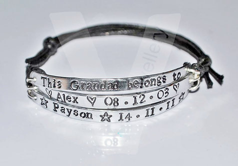 Grandad belongs to... Multi-Plate Bracelet *2 - 6 Plates Available