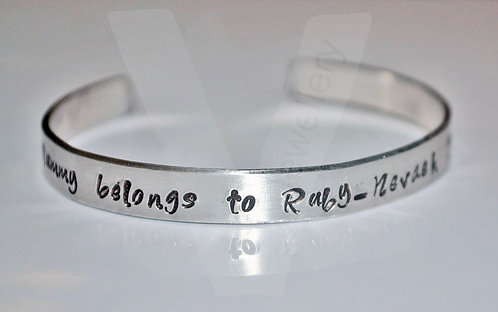 Personalised Torque Bangle - One Size 6""