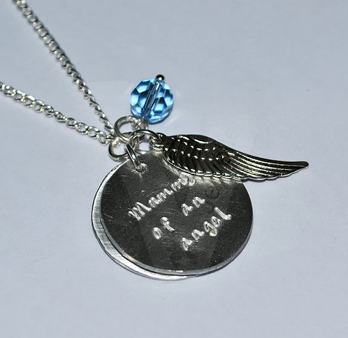 "Personalised ""Mummy of an angel"" Double Charm Pendant ~ 20"""