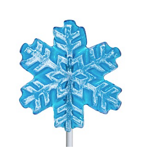 FROSTED SNOWFLAKE LOLLIPOP