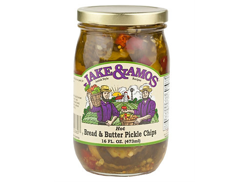 Jake & Amos® Hot Bread and Butter Pickle Chips