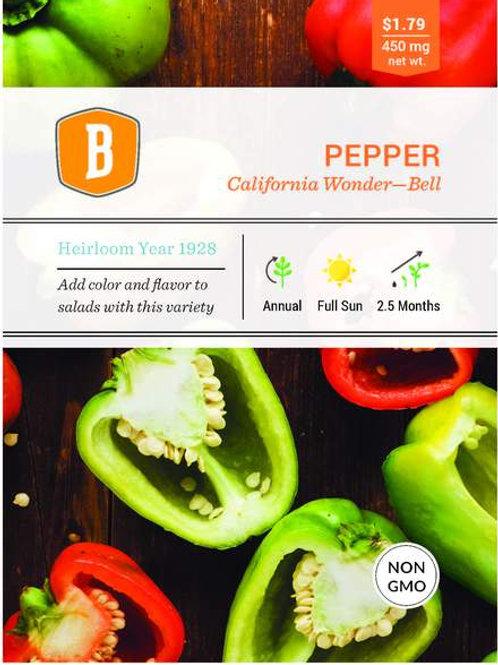 Sweet Bell Pepper Seed