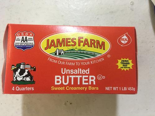 James Farm Unsalted Butter - 1 lb