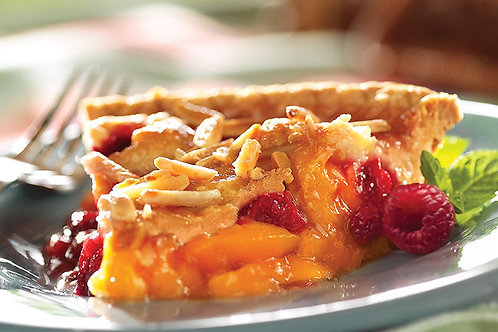 "9"" Peach Melba Pie"