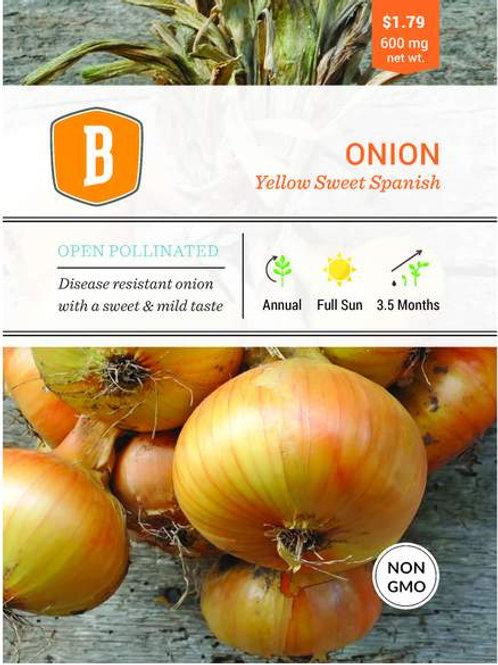 Onion - Yellow Sweet Spanish Seed
